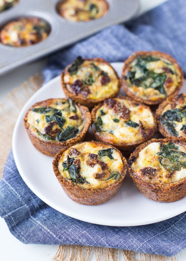 Spinach and Goat Cheese Mini Quiches