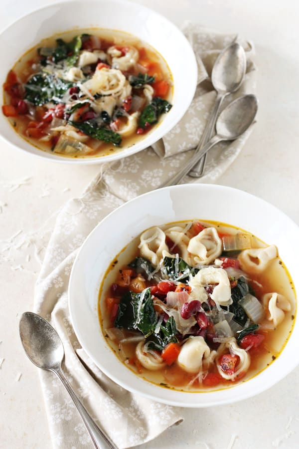 Tortellini and Kale Soup