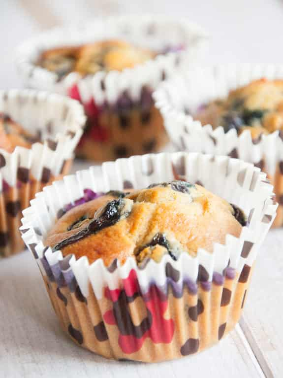 Blueberry Marzipan Muffins