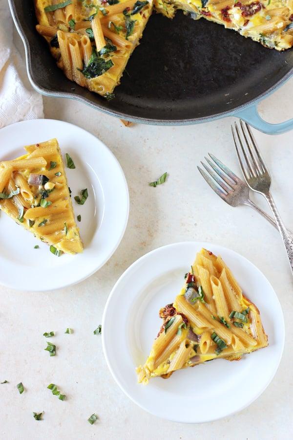 Mediterranean Pasta Frittata