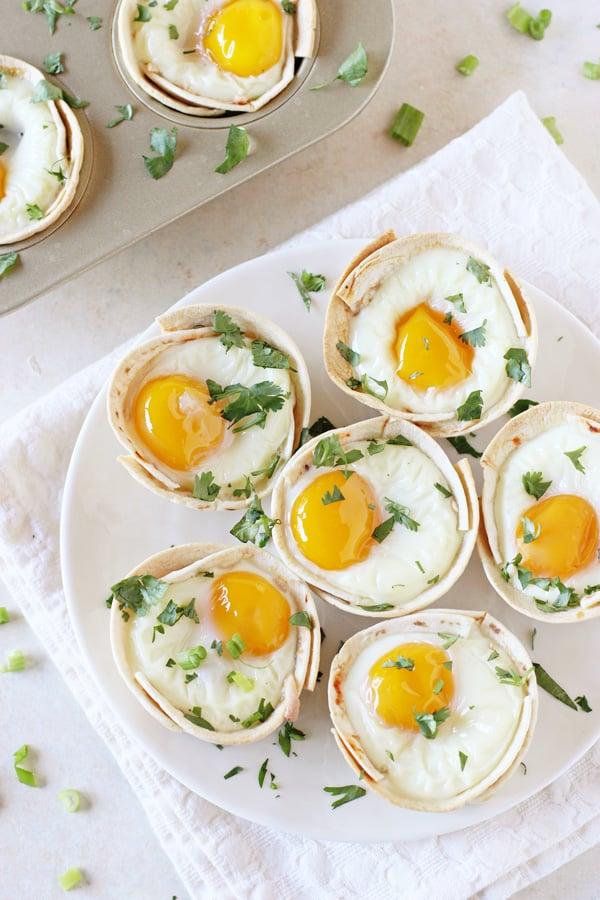 Huevos Rancheros Tortilla Breakfast Cups