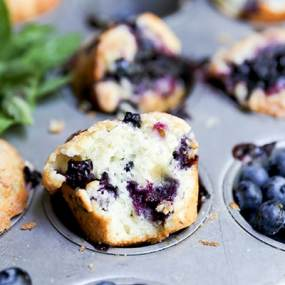 Blueberry-Basil Muffins
