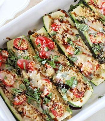 Caprese Stuffed Zucchini