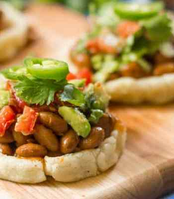 Sopes with Smoky Pinto Beans and Avocado Salsa