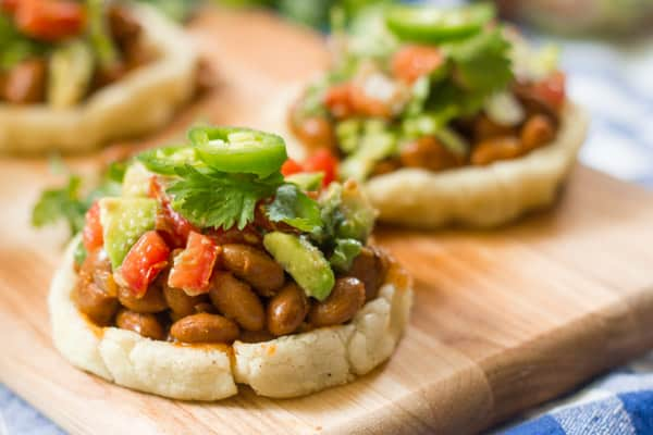 Sopes with Smoky Pinto Beans and Avocado Salsa By ...