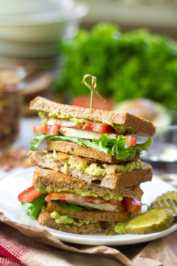 Vegan Club Sandwiches
