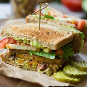 Vegan Club Sandwiches