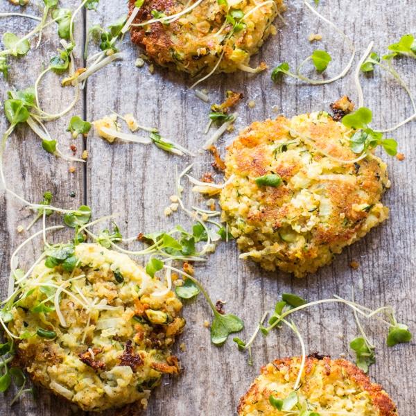 Zucchini Potato Quinoa Fritters