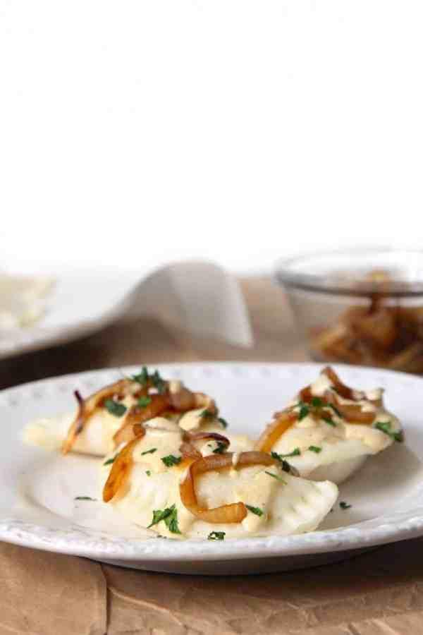 Onion & Potato Stuffed Pierogis