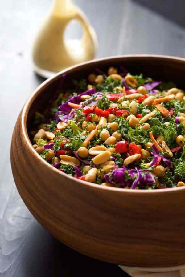 Rainbow Power Kale Salad