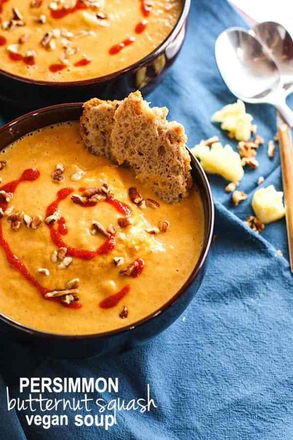 Persimmon Butternut Squash Soup