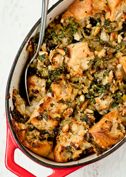 Kale, Dried Porcini & Pine Nut Stuffing