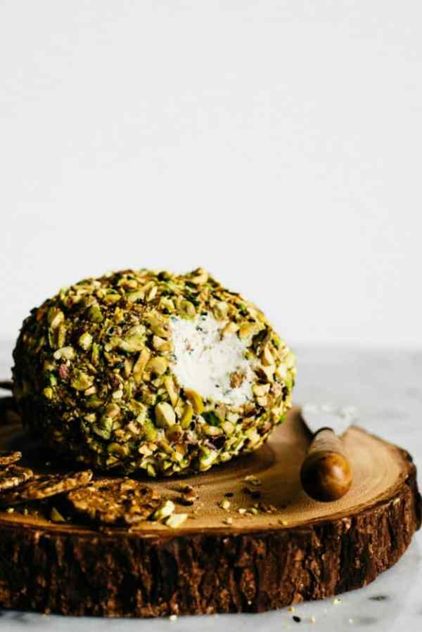 Japanese Spiced Goat Cheese Ball with Pistachios