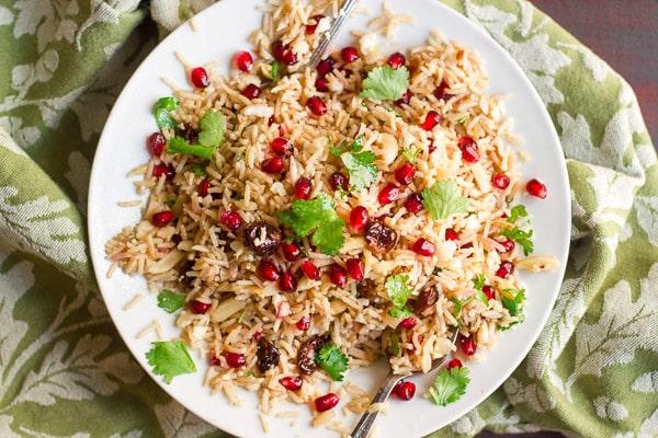 Basmati & Cauliflower Rice Pilaf By OhMyVeggies.com