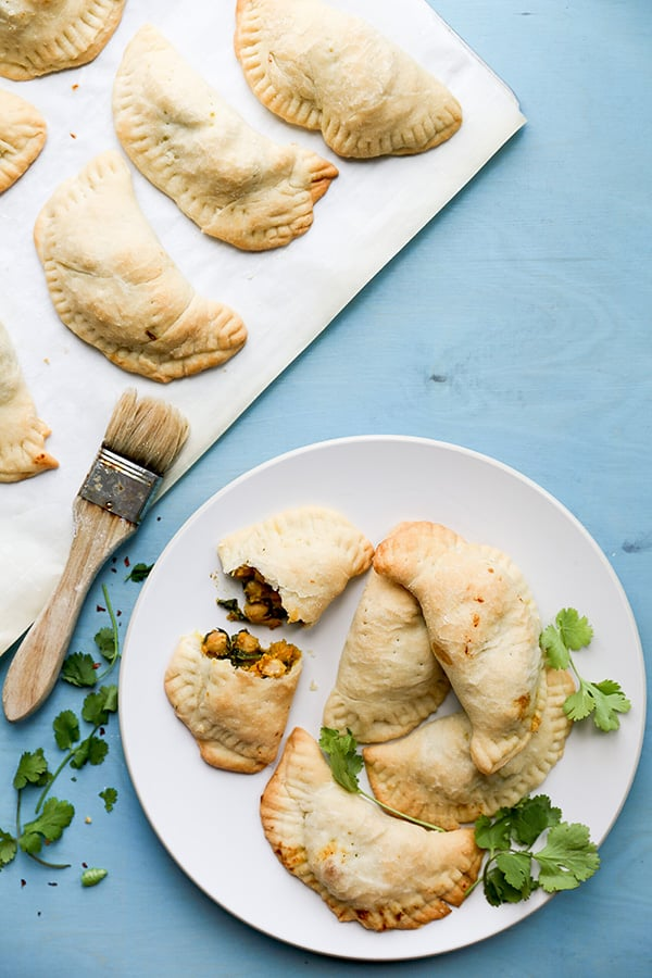 Vegan Sweet Potato, Chickpea and Spinach Empanadas