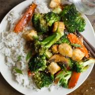Winter Vegetable Stir-Fry with Crispy Tofu