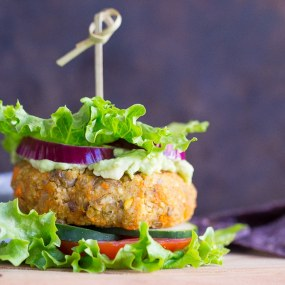 Millet, Sweet Potato and Lentil Burgers