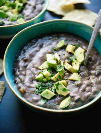 vegetarian crockpot black bean soup