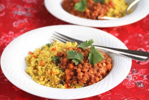 easy crockpot lentil chili