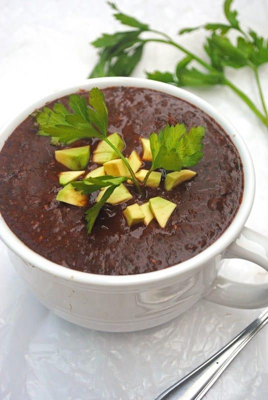 vegetarian crockpot black bean soup