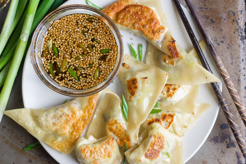Gingered Brussels Sprout and Shiitake Pot Stickers