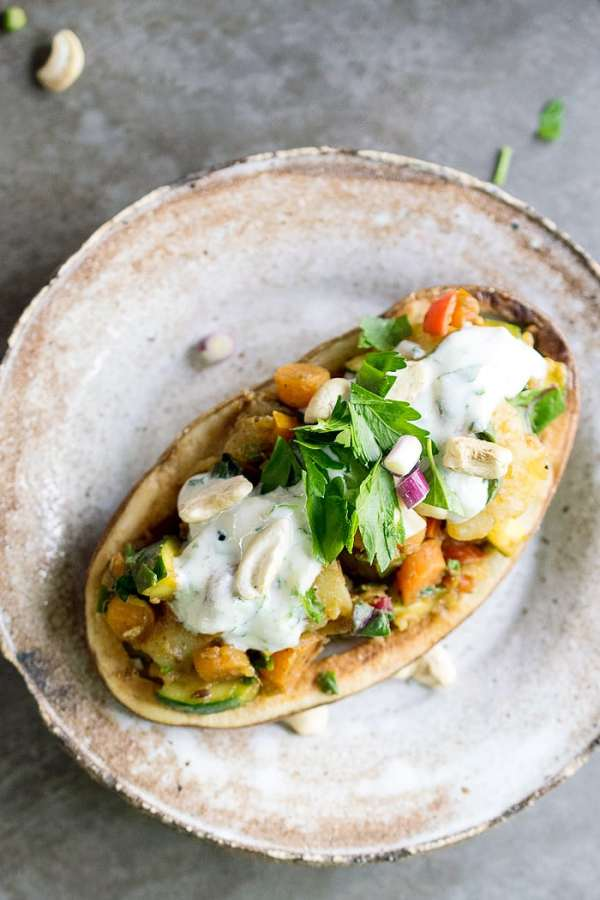 Instant Pot Curried Spring Vegetable Potato Chaat