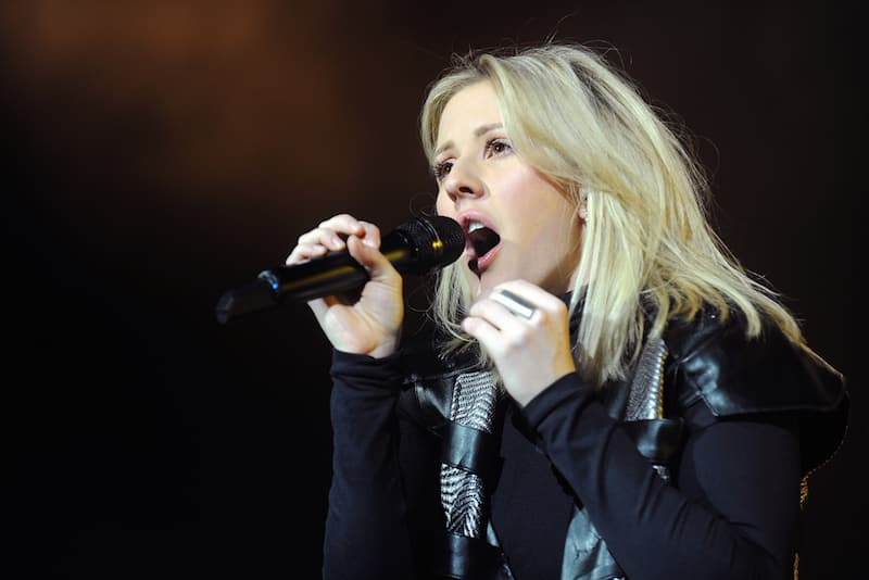 PRAGUE - JANUARY 30: Popular English singer Ellie Goulding during her performance in Prague, Czech republic, January 30, 2016.