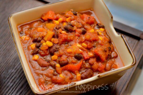 slow cooker vegetarian chili