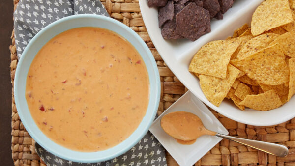two ingredient slow cooker queso dip