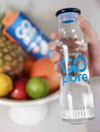 GoPure Pod in reusable water bottle