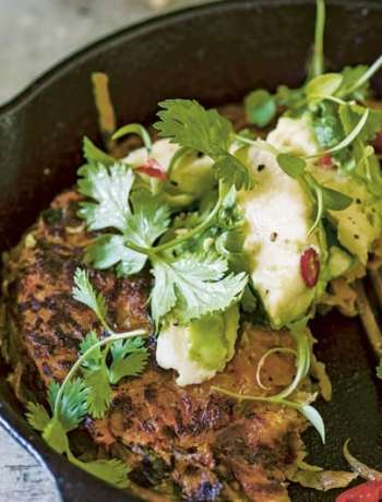 Sweet Potato Cakes with Lime and Avocado