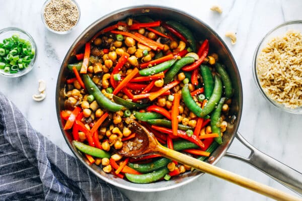 Teriyaki Chickpea Stir Fry 1