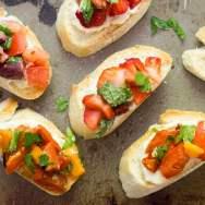 Vegan Bruschetta (3 Ways!) with Creamy Cashew Cheese