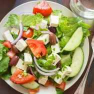 Vegan Greek Salad with Tofu Feta