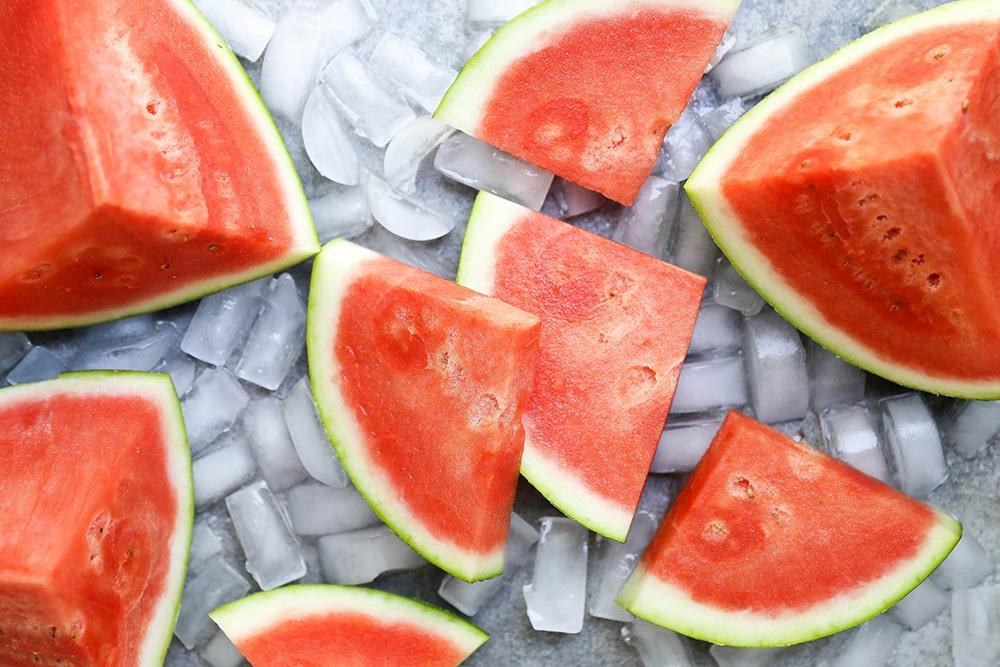 Watermelon, Cucumber and Feta Mason Jar Salads