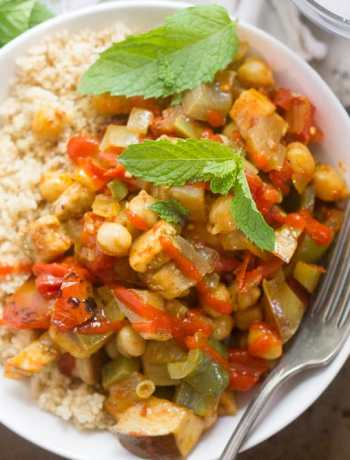 Vegetarian Eggplant Tajine
