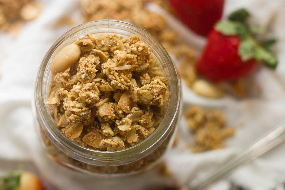 18 Irresistible Recipes for Homemade Granola: Peanut Butter Puffed Amaranth Granola