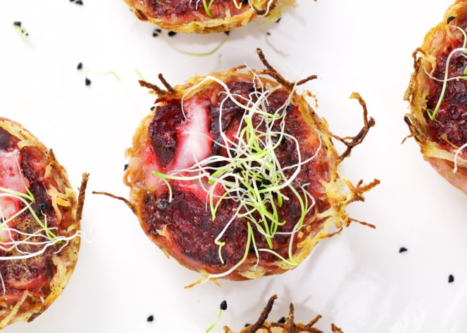 17 Creative Quiche Recipes: Beetroot and Goat Cheese Mini Quiches