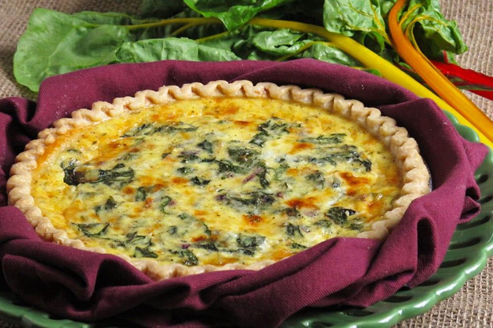 17 Creative Quiche Recipes: Chard Cheddar Quiche