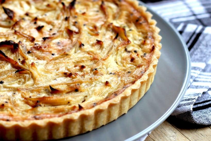 17 Creative Quiche Recipes: Mustard and Onion Quiche