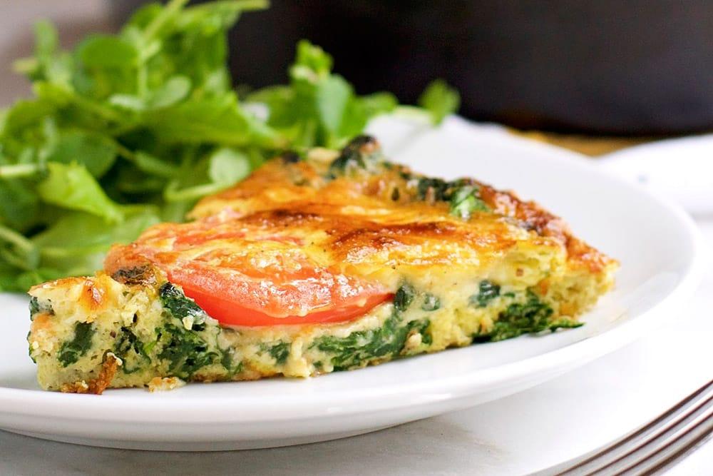 17 Creative Quiche Recipes: Spinach Tomato and Smoked Gouda Frittata