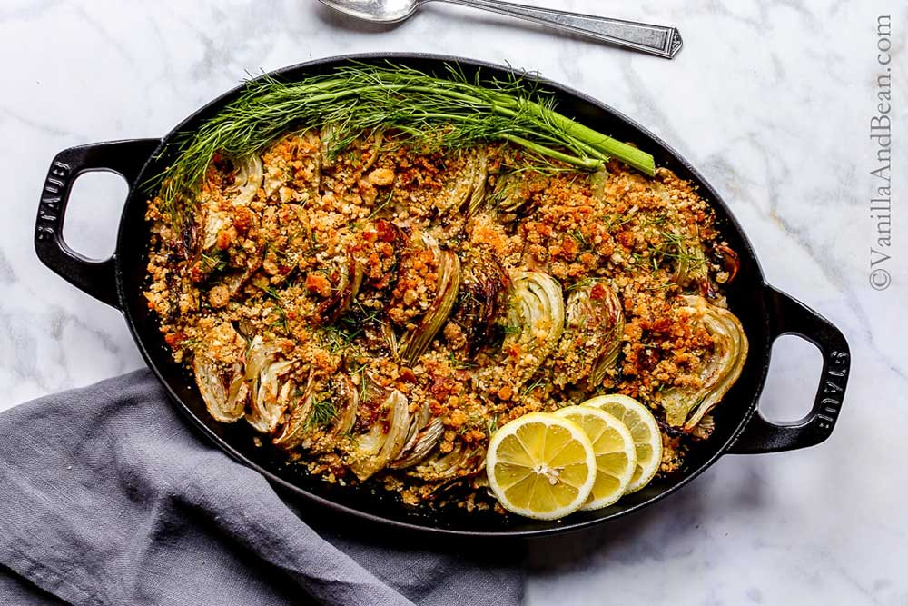 17 of the Best Vegetarian Casseroles: Roasted Fennel, Mushroom and White Bean Brown Rice Gratin