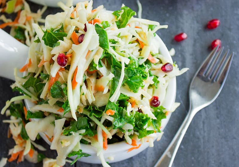 15 Coleslaw Recipes to Make This Summer: Coleslaw with Kale, Apple, and Pomegranate