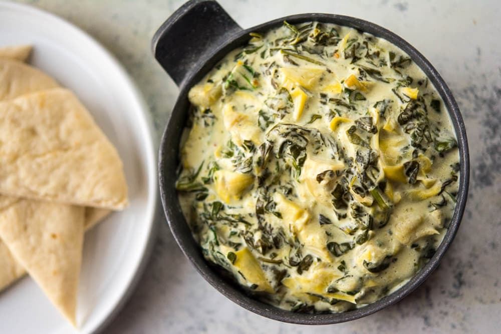 10 No Fuss Vegetarian Crockpot Dips: Slow Cooker Spinach and Artichoke Dip