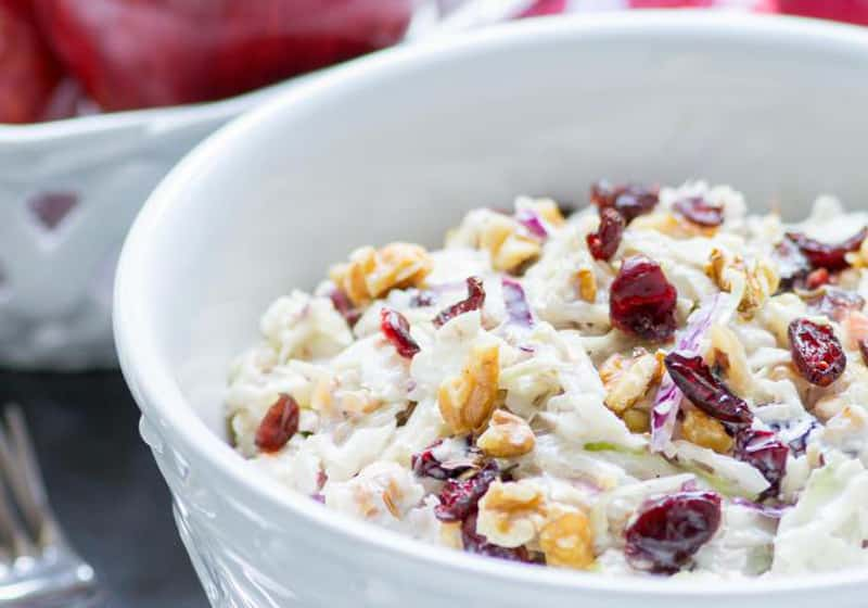 15 Coleslaw Recipes to Make This Summer: Apple Cranberry Walnut Coleslaw
