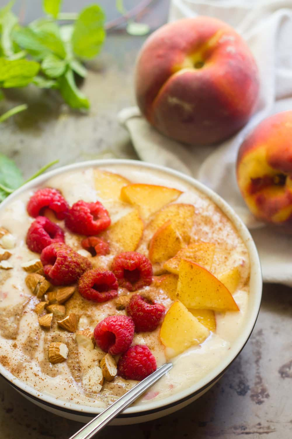 Peaches & Cream Smoothie Bowls
