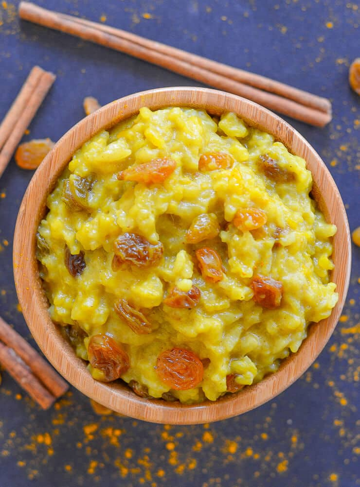 26 Creative and Delicious Turmeric Recipes: Slow Cooker Rice Pudding
