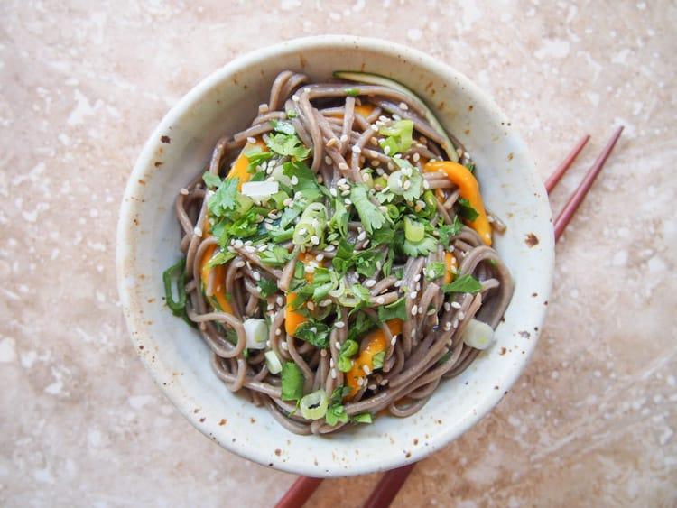 18 Best Easy Vegetarian Recipes: Soba Noodle Salad