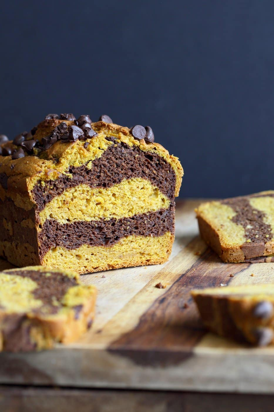 26 Creative and Delicious Turmeric Recipes: Marbled Turmeric Pumpkin Chocolate Bread
