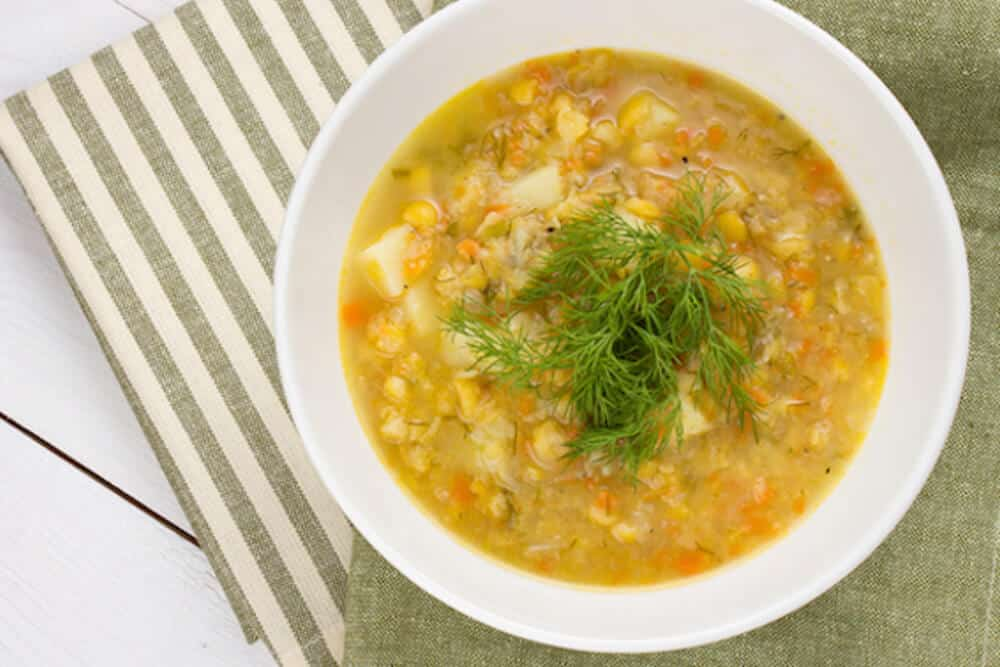 17 Cozy Split Pea Soup Recipes to Try This Fall: Split Pea Soup with Barley and Vegetables